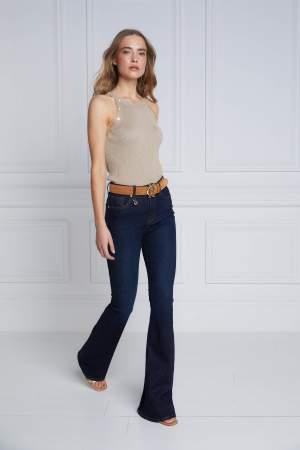 High Rise Flared Jean