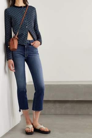 Crop Flared Blue Jeans
