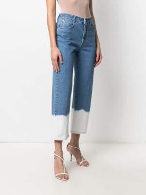 Dip Dye Cropped Jeans