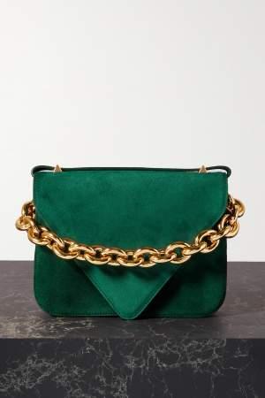 Suede Shoulder Bag Green