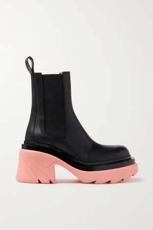 Platform Chelsea Boots Black/Pink
