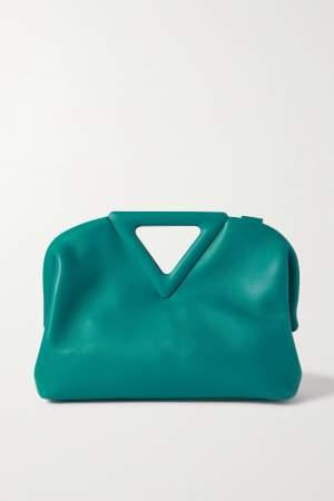 Medium Leather Tote Blue