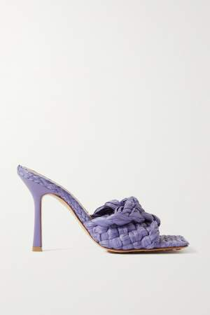 Woven Mules Lilac