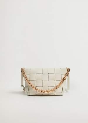 Braided Chain Bag Cream