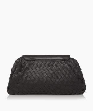Woven Clutch Bag Black