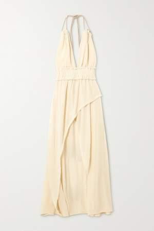 Open Back Gauze Dress