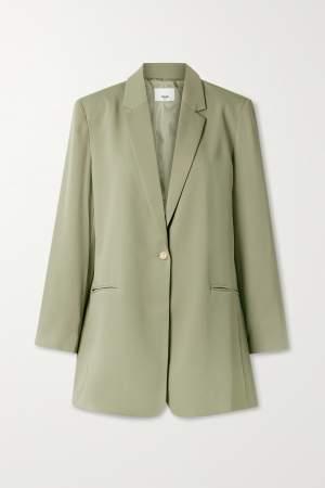 Crepe Blazer Green