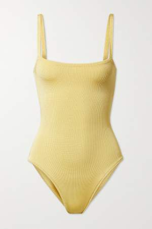 Ribbed Knit Bodysuit Yellow