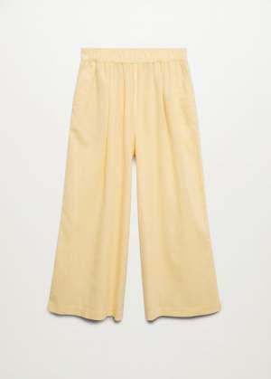 Linen Blend Culotte Trousers