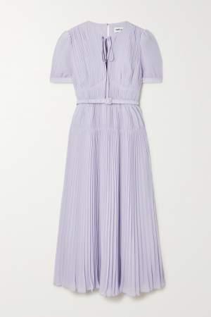 Chiffon Midi Dress Lilac