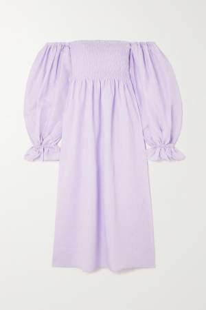 Off Shoulder Dress Lilac