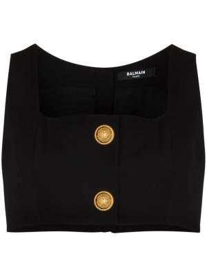 Gold Button Bralette
