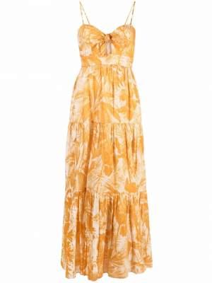 Floral Maxi Dress Yellow