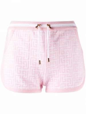 Monogram Print Shorts Pink