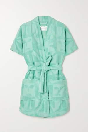 Terry Cloth Robe Blue