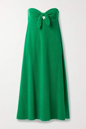 Strapless Midi Dress Green