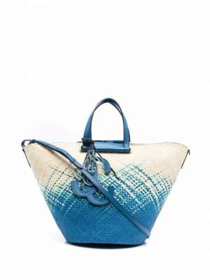 Raffia Degrade Bag Blue