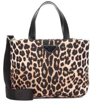 Leopard Print Nylon Tote