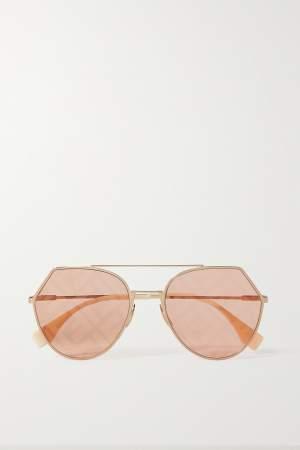 Gold Tone F Sunglasses