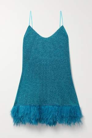 Lurex Mini Dress Teal