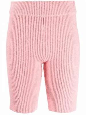 Ribbed Shorts Pink