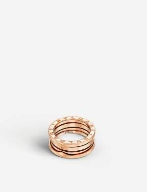 Three Band Pink Gold Ring
