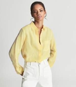 Relaxed Linen Shirt Lemon