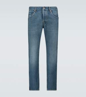 Tapered Denim Jeans Blue