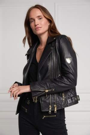 Black/Gold Biker Jacket