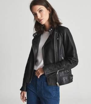 Black/Silver Biker Jacket