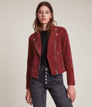 Cherry Red Biker Jacket