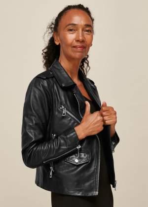 Pocket Leather Biker Jacket