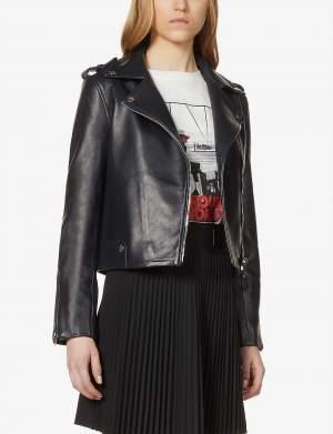 Smooth Leather Biker Jacket