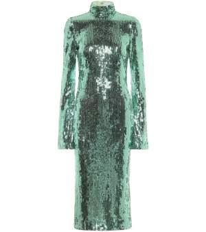 Sequin Midi Dress Mint