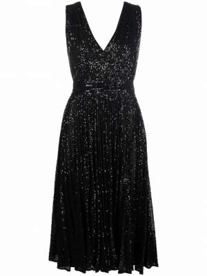 Sequin Embellished Dress Black