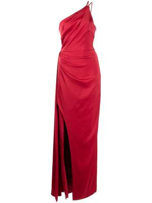 One Shoulder Maxi Dress Red