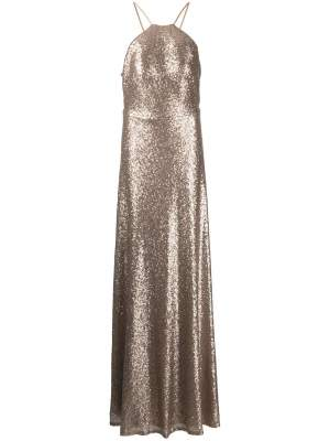 Sequin Gown Gold