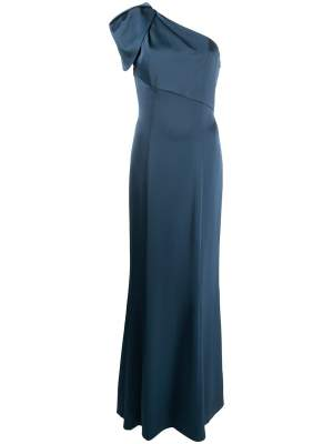 One Shoulder Gown Navy